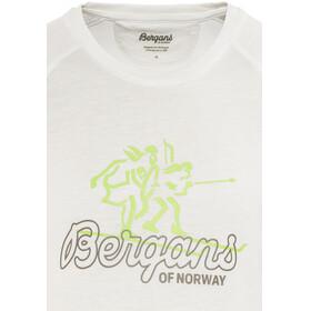 Bergans Tee Men White/Faded Olive/Spring Leaves